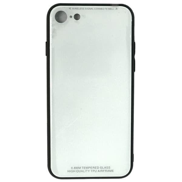 Чехол бампер Jorita-Tempered Glass TPU Bumper Case (White) для iPhone 7/8