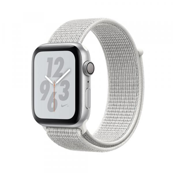 Apple Watch 44 mm Nike+ Silver Aluminum Case with Summit White Nike Sport Loop