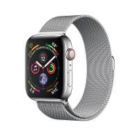 Apple Watch Silver  Series 4 40mm GPS+Cellular Aluminum Case with Silver Milanese Loop