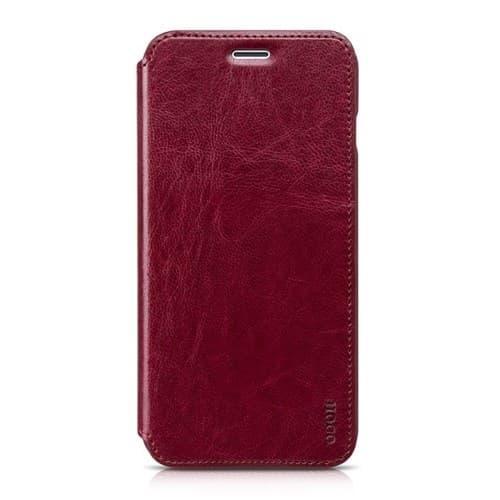 Чехол книжка Hoco кожаный для iPhone X , цвет (Red)