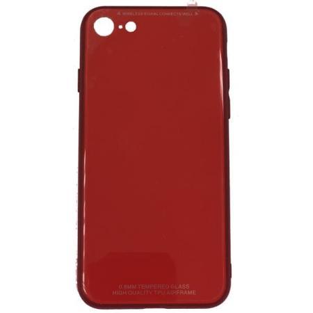Чехол бампер Jorita Tempered Glass TPU Bumper Case (Red) для iPhone 6/6S