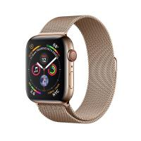 Apple Watch Space Gray Series 4 40mm GPS+Cellular Aluminum Case with Gold Milanese Loop