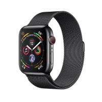 Apple Watch Gold Series 4 40mm GPS+Cellular Aluminum Case with Space Black Milanese Loop