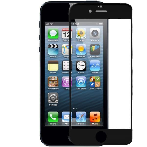 Защитное стекло Apple iPhone 5/5S/5SE (Black)