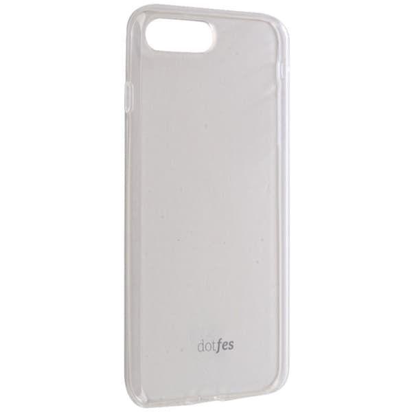 Чехол бампер cиликоновый Dotfes для iPhone 7/8 (Прозрачный)