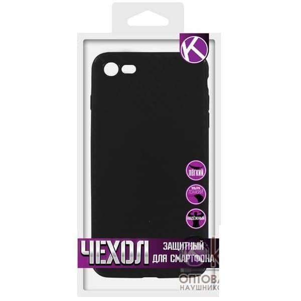 Чехол бампера силиконовый  Krutoff для iPhone 7/8 (Carbon)