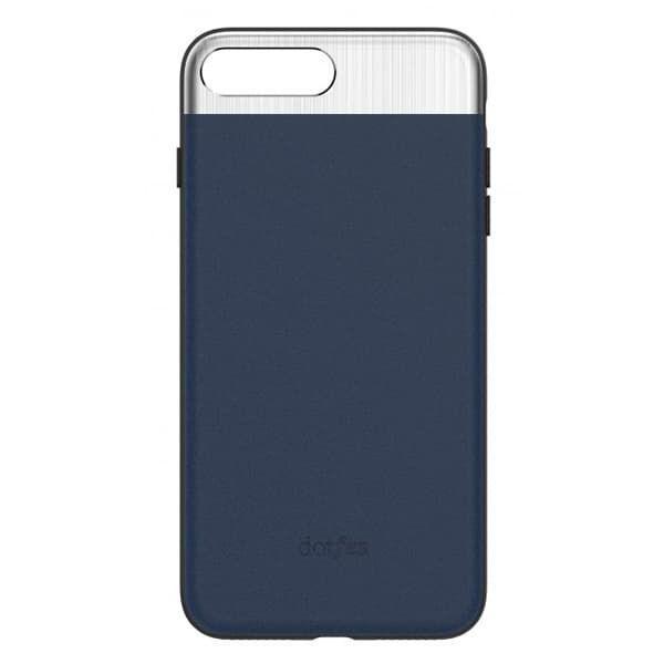 Чехол бампер кожанный Dotfes для iPhone 7/8 (Blue)