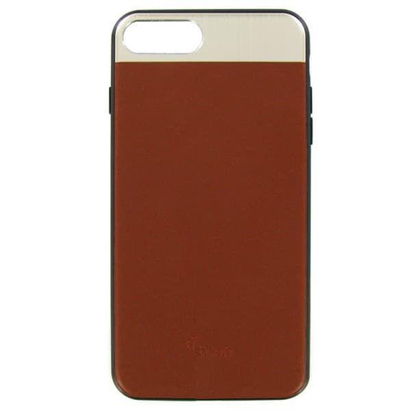 Чехол бампер кожанный Dotfes для iPhone 7/8 (Brown)