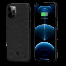 "Чехол Pitaka MagEZ Case для iPhone 12/12 Pro 6.1"", черно-серый (шахматное плетение), кевлар (арамид)"