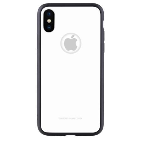 Чехол бампер Jorita-Apple iPhone X Tempered Glass TPU Bumper Case (White)