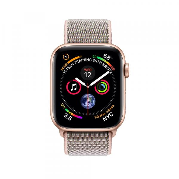 Apple Watch Gold Series 4 40mm Aluminum Case with Pink Sand Sport Loop