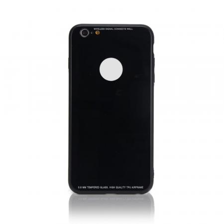 Чехол бампер Jorita Tempered Glass TPU Bumper Case (Black) для iPhone 6/6S