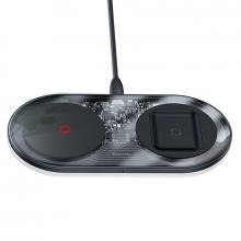 Беспроводное зарядное устройство Baseus Simple 2in1 Wireless Charger Turbo Edition 24W