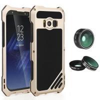 Противоударный защитный футляр c 2 объективами для Samsung s8 Plus