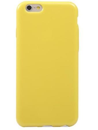 Чехол бампера силиконовый  Krutoff для iPhone 6/6S (Yellow)