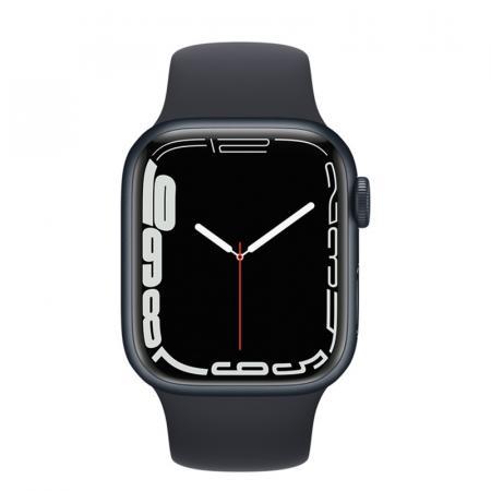 Apple Watch S7 45mm Midnight Aluminum Case / Midnight Sport Band