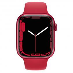 Apple Watch S7 41mm Red Aluminum Case / Red Sport Band