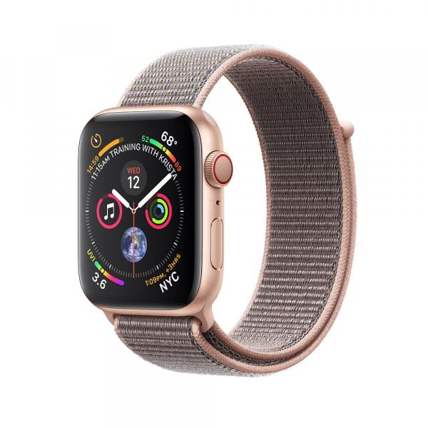Apple Watch Gold Series 4 40mm GPS+Cellular Aluminum Case with Pink Sand Sport Loop
