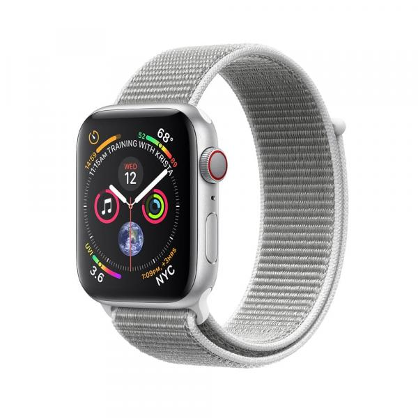 Apple Watch Silver  Series 4 44mm GPS+Cellular Aluminum Case with Seashell Sport Loop