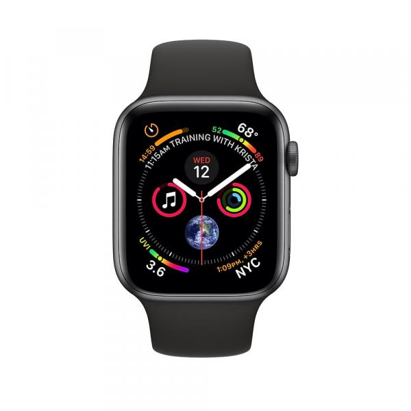 Apple Watch Space Gray Series 4 40mm GPS+Cellular Aluminum Case with Black Sport Band
