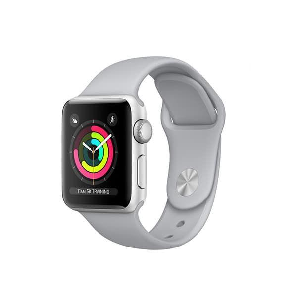 Apple Watch Series 3 38mm GPS Silver Aluminum Case with Fog Sport Band