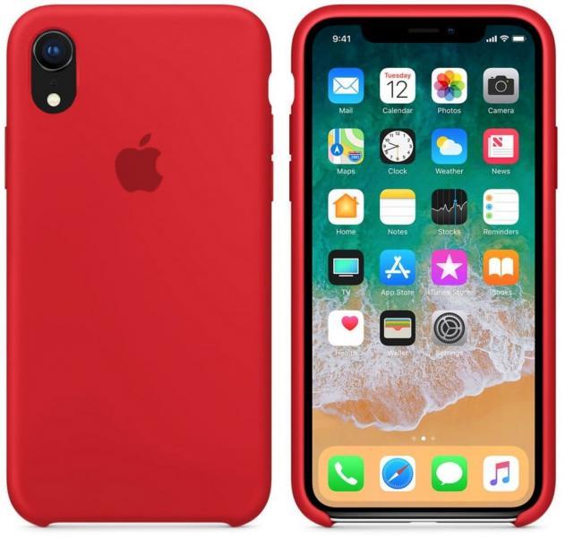 Силиконовый чехол для iPhone XR,цвет красный