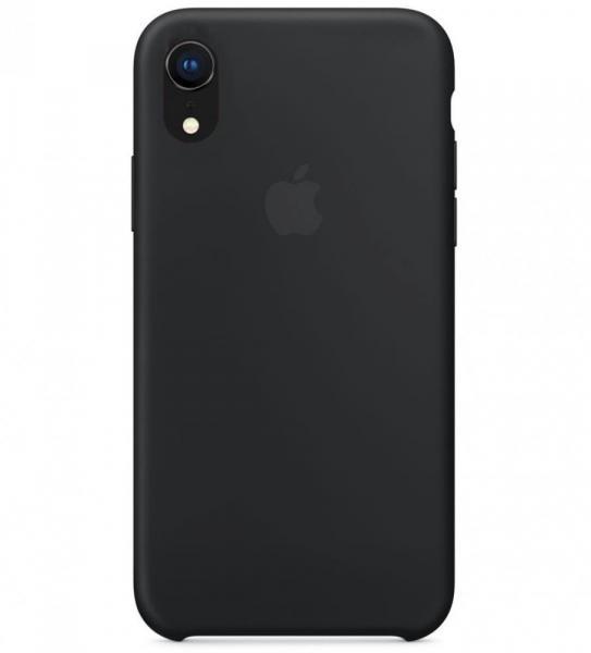 Силиконовый чехол для iPhone XR, цвет черный