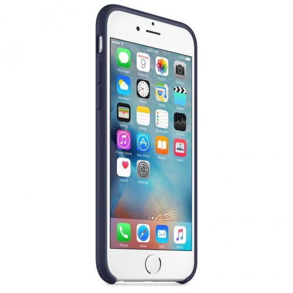 Силиконовый чехол для iPhone 6/6s (темно синий)