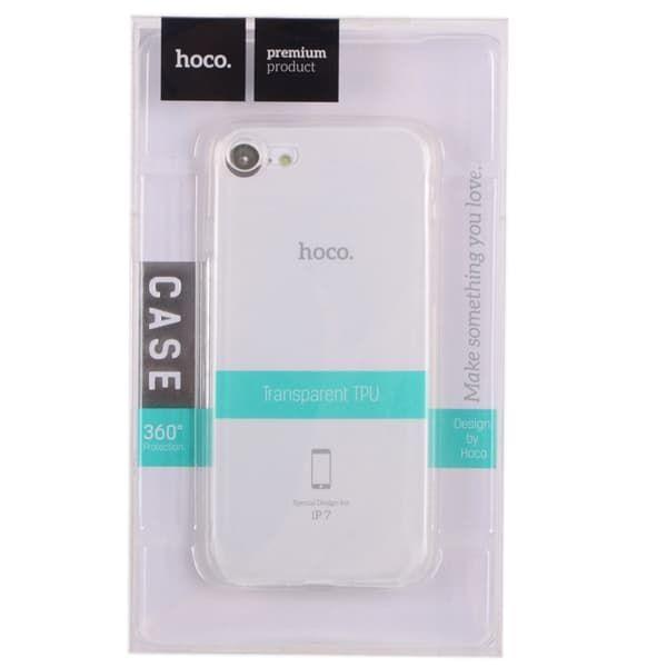 Чехол бампер силиконовый Hoco (Прозрачный) для iPhone 7/8