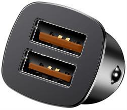 Автомобильное зарядное устройство Baseus Square 30W Dual QC3.0 Quick Car Charger