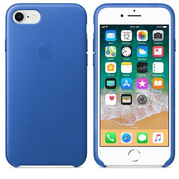 Кожаный чехол для iPhone 7 Blue Light