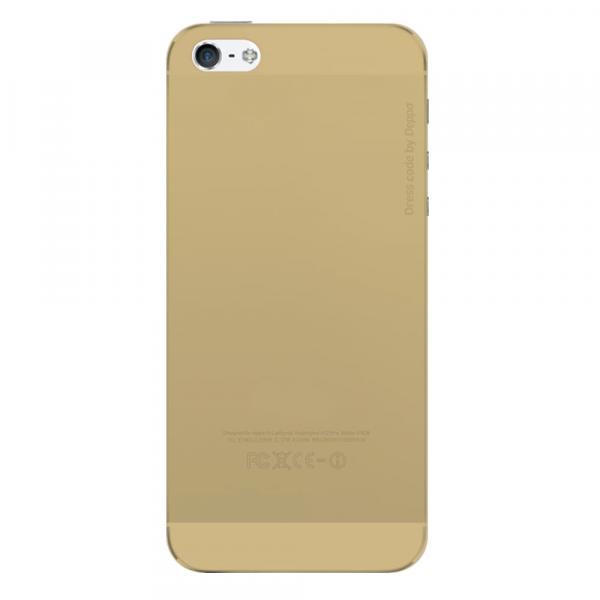 Чехол бампер силиконовый Deppa Sky Case для iPhone 5/5S/5SE (Gold)