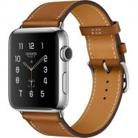 Apple Watch Hermes Series 2 42mm Stainless Steel Case with Fauve Barenia Leather Single Tour