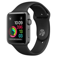 Apple Watch Series 1 42mm Space Gray Aluminum Case with Black Sport Band