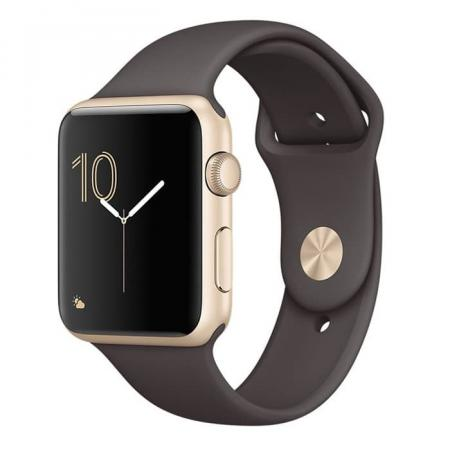 Apple Watch Series 1 42mm Gold Aluminum Case with Cocoa Sport Band