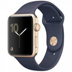 Apple Watch Series 2 42mm Gold Aluminum Case with Midnight Blue Sport Band