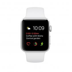 Apple Watch Series 2 42mm Silver Aluminum Case with White Sport Band