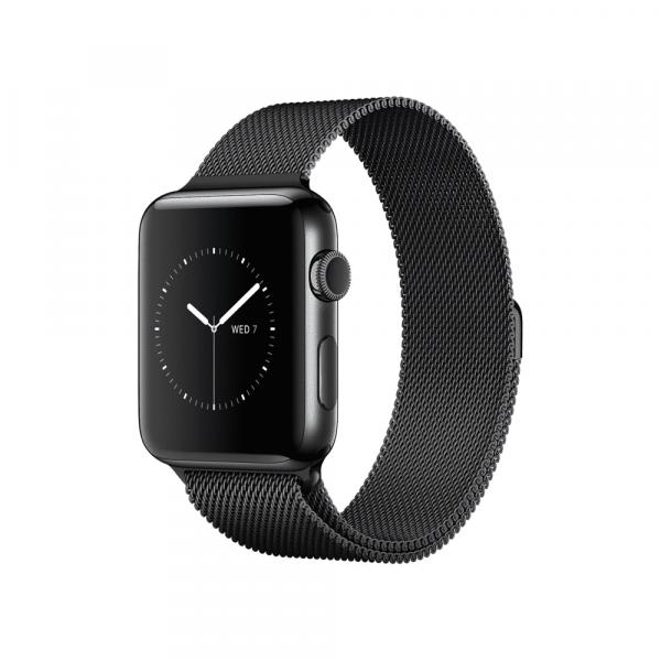Apple Watch Series 2 42mm Space Black Stainless Steel Case with Space Black Milanese Loop