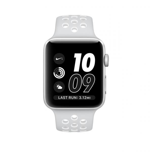 Apple Watch Series 2 Nike+ 38mm Silver Aluminum Case with Pure Platinum/White Nike Sport Band