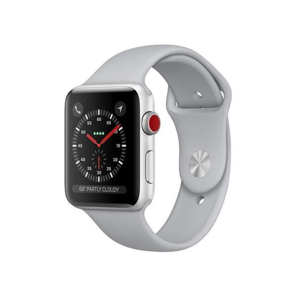 Apple Watch Series 3 42mm GPS+Cellular Silver Aluminum Case with Fog Sport Band
