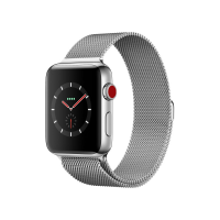 Apple Watch Series 3 42mm GPS+Cellular Stainless Steel Case with Milanese Loop