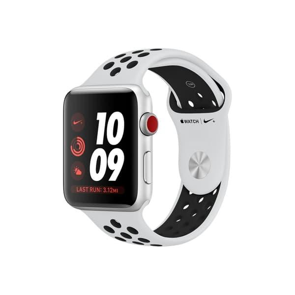 Apple Watch Series 3 Nike+ 42mm GPS+Cellular Silver Aluminum Case with Pure Platinum/Black Nike Sport Band