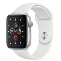 Apple Watch 5 40mm Silver Aluminum Case with White Sport Band