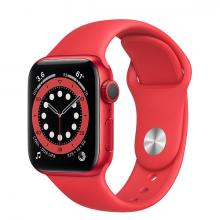 Apple Watch 6 40mm GPS Red Aluminum Case with Red Sport Band