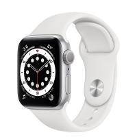 Apple Watch 6 44mm GPS Silver Aluminum Case with White Sport Band