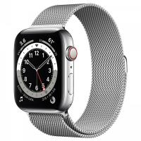 Apple Watch Series 6 40mm GPS+Cellular Silver Stainless Steel Case with Milanese Loop