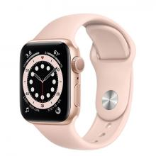 Apple Watch 6 40mm GPS Gold Aluminum Case with Rose Gold Sport Band