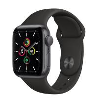 Apple Watch SE 44mm GPS Space Gray Aluminum Case with Black Sport Band