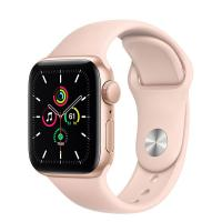 Apple Watch SE 40mm GPS Gold Aluminum Case with Rose Gold Sport Band