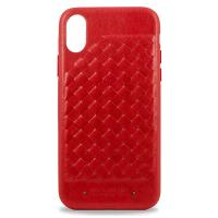 Чехол для iPhone X Santa Barbara Ravel силикон+кожа (Красный)